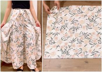 Стильные брюки-юбка с запахом за 1 час