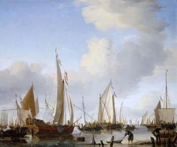 Виллем ван де Вельге младший - корабли в живописи