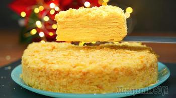 Тот самый торт Наполеон с заварным кремом – Нежный мягкий домашний торт