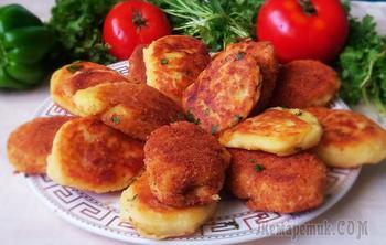 Зразы картофельные с фаршем