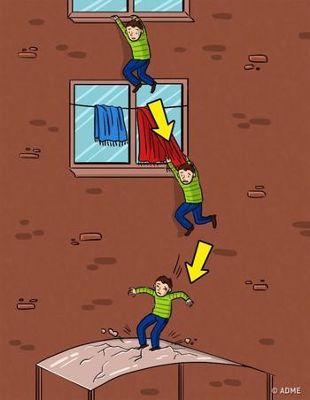 Что делать, если существует опасность падения с высоты