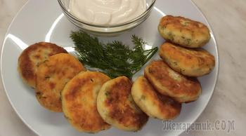 Вкусный завтрак! Солёные сырники с зеленью