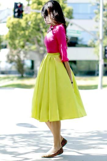 Как носить розовый+жёлтый и выглядеть потрясающе