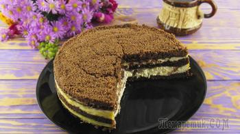 Вкусный шоколадный пирог с творогом!