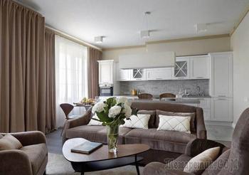 Дизайн трехкомнатной квартиры 110 м2
