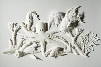Бумажные скульптуры Дэрила Эштона