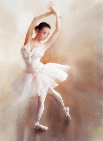Балет в акварелях китайского художника Liu Yi
