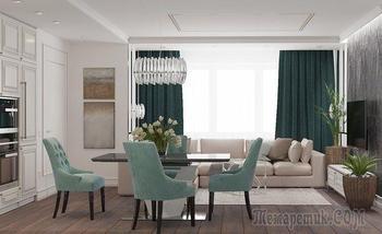 Холодная классика и современные мотивы — в столичной квартире для молодой семьи