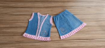 Красивый детский костюм из одной пары джинсов