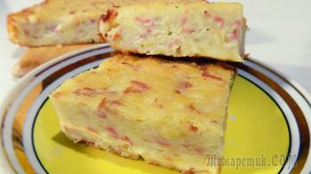 Картофельная запеканка с сосисками и сыром. Видео рецепт