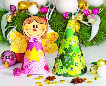 Рождественский ангел из картона своими руками