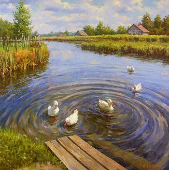 Лето в картинах Дмитрия Левина