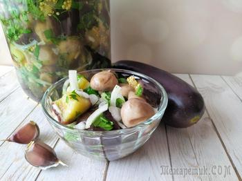 Баклажаны по-корейски с грибами. Закуска под все!