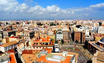 Валенсия. 6. Центральная площадь, башни Серранос и взгляд на город сверху