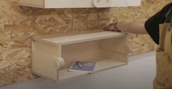 Мастерим настенный складной столик для домашней мастерской
