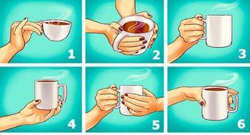 То, как вы держите чашку, расскажет о самых ярких чертах характера!