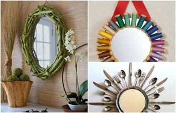 Как из обычного зеркала сделать изюминку любого интерьера