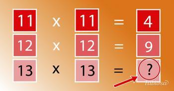 Какое число нужно вставить в последний квадратик?