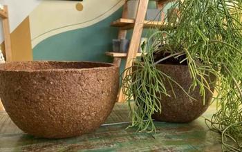 Горшки для растений из древесных опилок