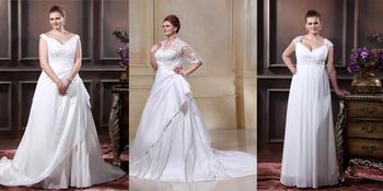 Выбор свадебных платьев для полных девушек