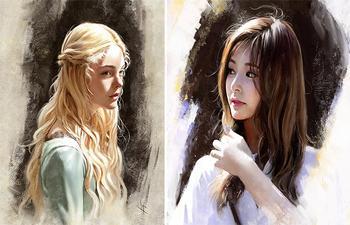 Женские портреты в иллюстрациях Жюстина Флорентина