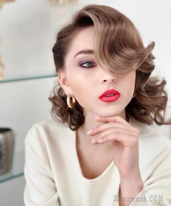 Винтажные прически на разную длину волос