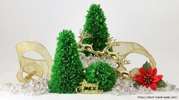 Новогодние ёлочки из бумаги