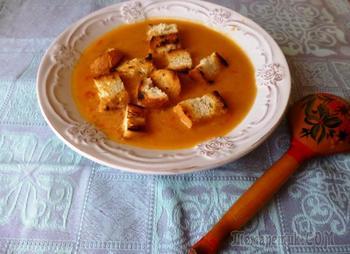 Суп пюре из чечевицы с рисом