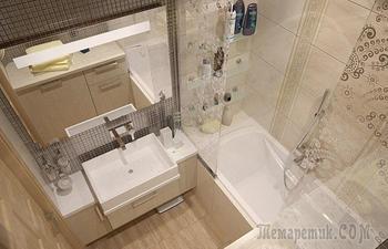 Малогабаритные ванные комнаты: Идеи, которые помогут организовать все в крошечном помещении