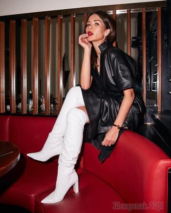 20 примеров с чем носить высокие сапоги, чтобы всегда выглядеть очаровательно