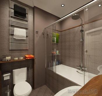 20 реальных примеров гармоничного дизайна малогабаритной ванной комнаты