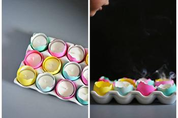 Как сделать свечи в яичной скорлупе: украшаем дом к Пасхе
