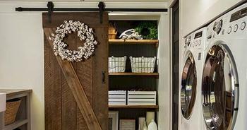 Использование амбарных дверей в интерьере