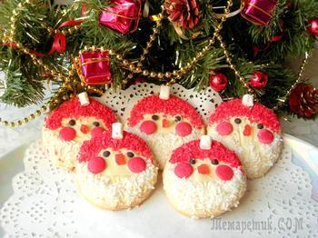 Новогодний десерт «Дед Мороз». Простая идея!