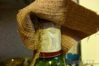 «Бутылочка с овощами» для декора