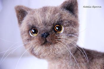 Мастер-класс: валяем очаровательного котенка