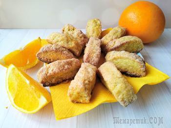 Сахарное печенье апельсиновое (без яиц и без сливочного масла)