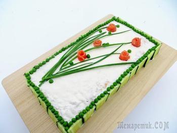 Закусочный торт на праздничный стол