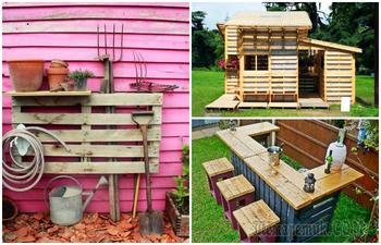 17 красивых и удобных вещей из палетов, которые каждый сможет сделать для дома и дачи
