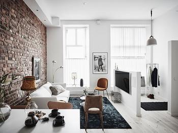 Стильная и умная небольшая квартира в Гетеборге