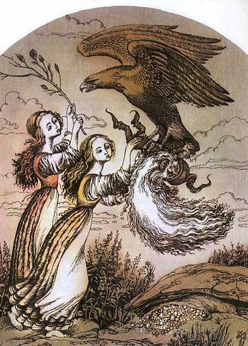 «Беляночка и Розочка». Иллюстрации разных художников