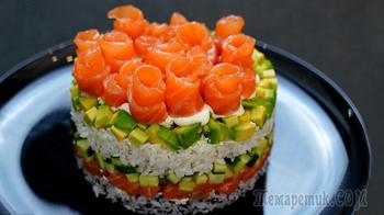Этот салат просто находка! Салат Филадельфия или Ленивые суши