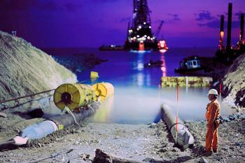 В Турции началось строительство приемного терминала газопровода из России «Турецкий поток»