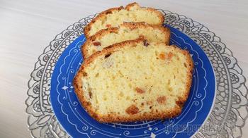 Рецепт кекса с изюмом приготовленного в духовке