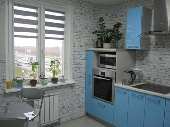 "Кухня: простор и прохлада на 9 ""квадратах"""