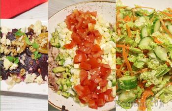3 полезных салата на праздничный стол. Меню на новый год 2019