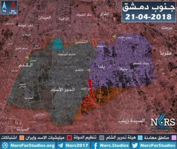 Ситуация в Сирии на 22.04.2018 г. Штурм Ярмука
