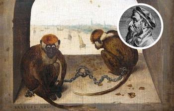 Что рассказывает о грехах людей картина Брейгеля Старшего «Две обезьяны на цепи»