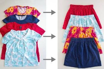 Как сшить юбку из старой футболки за 10 минут: мастер-класс