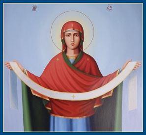 Покров Пресвятой Богородицы в иконах,песнопениях,стихах и картинах